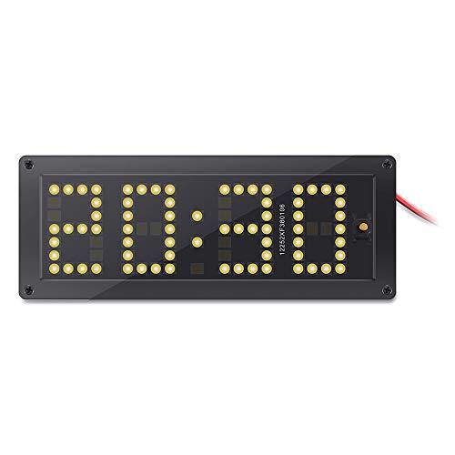 3 In 1 Auto Elektronische Thermometer LED Uhr Spannung Rx8025 Auto Uhr Leucht Voltmeter Hohe Präzision