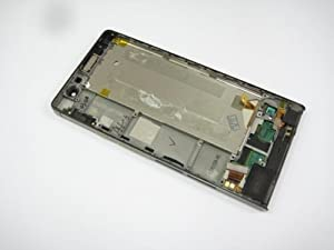 Schwarz Full LCD Display + Touch Screen + Rahmen für Huawei Ascend P6