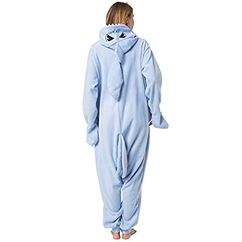 Katara 1744 -Hai Kostüm-Anzug Onesie/Jumpsuit Einteiler Body für Erwachsene Damen Herren als Pyjama oder Schlafanzug Unisex - viele verschiedene (Jumpsuit Kostüm)