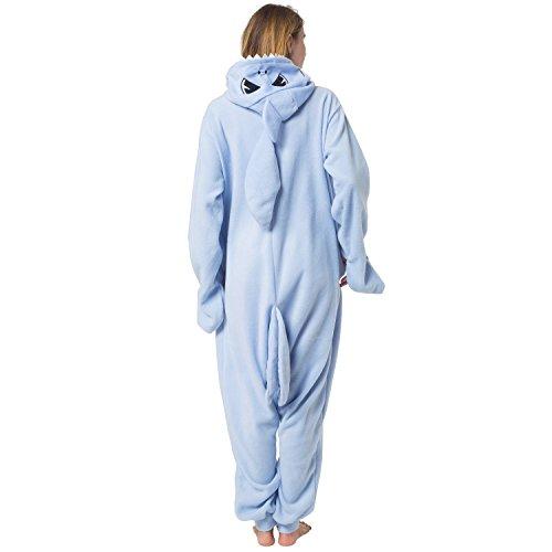 Katara 1744 -Hai Kostüm-Anzug Onesie/Jumpsuit Einteiler Body für Erwachsene Damen Herren als Pyjama oder Schlafanzug Unisex - viele verschiedene Tiere