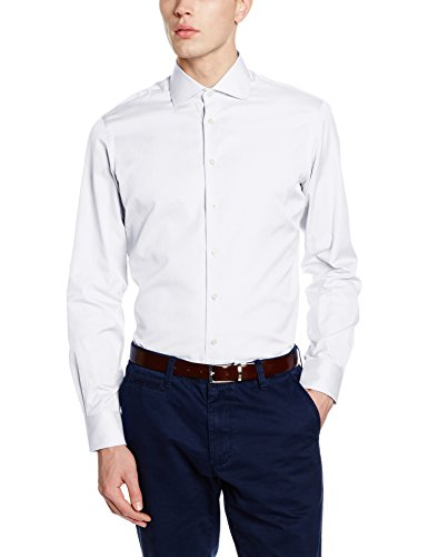 hackett-clothing-pinpoint-single-cuff-chemise-business-homme-blanc-155uk