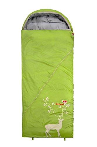 Grüezi+Bag Erwachsene Deckenschlafsack Cloud Decke Reh RV Links Schlafsack, Grün, 33 x 16 x 16 cm