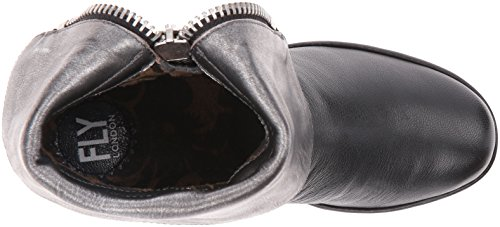 Fly London Yex668fly, Stivaletti Donna Nero (Black/ant.silver 003)