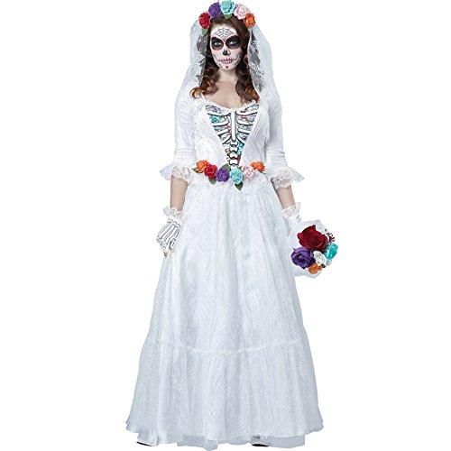 DLucc Rollenspiele Gespenst Braut Kleidung weibliche Modelle Halloween- Zombie- Corpse Bride Export Uniformen