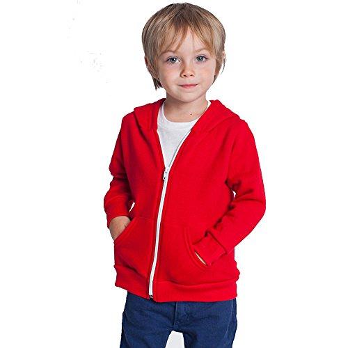 Kids Hoodie Hooded Hoody Boys Girls Sweatshirt Plain Gildan Children Blank Heavy Blend Jacket Hoodies Zipper Coat Age 3-13 (7-8, red)
