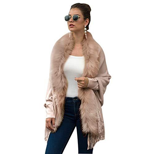 Moent Plus Frauen Winter gestrickte Kaschmir Capes Schal Strickjacken Pullover Mantel, Tops für Frauen UK Clearance Größe Herbst Winter Bluse -
