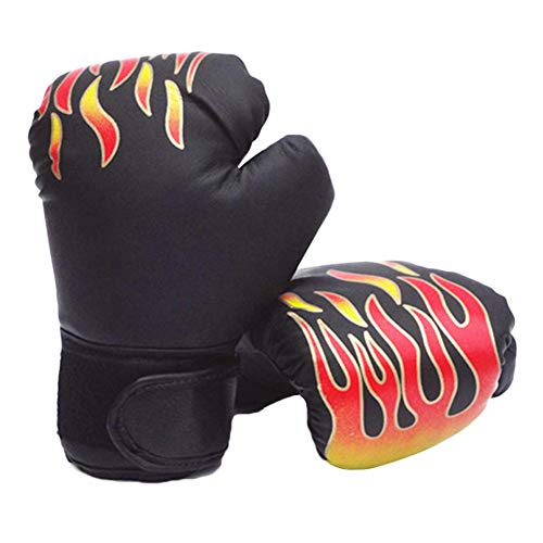 Verlike Sports Boxhandschuhe, Kickboxhandschuhe, Erwachsene, Muay Thai Gel-Sparring-Trainingshandschuhe, Schwarz