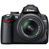 Nikon D5000 + AF-S DX NIKKOR 18-55mm SLR Camera Kit 12.3MP CMOS 4288 x 2848pixels Black - Digital Cameras (12.3 MP, 4288 x 2848 pixels, CMOS, HD, 560 g, Black)