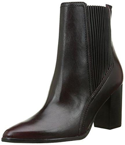 Bronx Damen Geneva Kurzschaft Stiefel, Rot (Bordeaux 34), 37 EU (4UK) (Leder Heels Bronx High)
