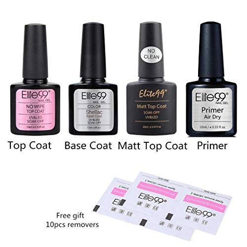 Elite99 Base Coat Top Coat Semipermanentes