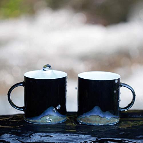 Versteckter Gebirgskeramikbecher zwischen den Landschaften@Versteckter Berg zum Cup (Wand-berg-cup)