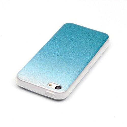 Beiuns pour Apple iPhone 5C (4 pouces) Coque en Silicone TPU Housse Coque - N226 argent N222 bleu