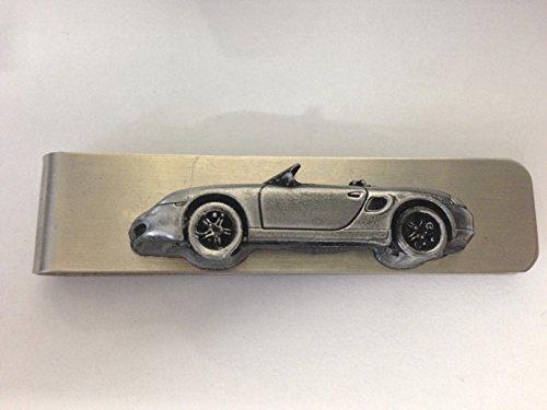 edelstahl-geld-clip-mit-einem-porsche-boxster-3d-zinn-effekt-emblem-ref192