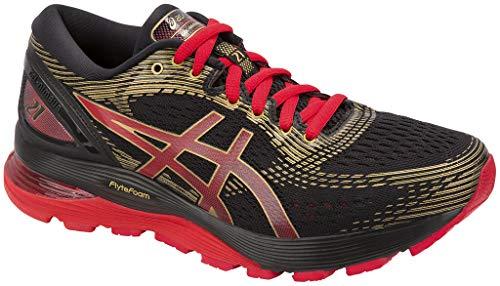 1-09,5 Nuevo Asics Gel-Nimbus 21, Zapatillas de Running para Hombre, Negro (Black/Classic Red 001), 51.5 EU
