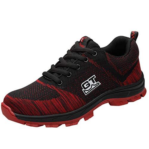 Sicherheitsschuhe Damen Herren Sneaker Laufschuhe Air Sportschuhe Mesh Turnschuhe Running Fitness Sneaker Outdoors Sports für Sommer 36-46 EU By Vovotrade