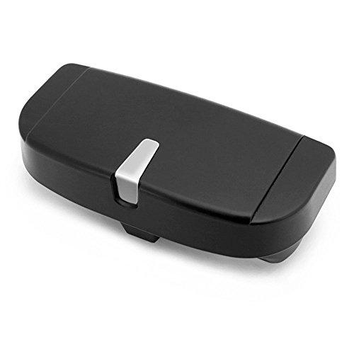 Relangce Brillenetui für Auto Sonnenblende,Brillenetui Käfig mit Kartenkarten Clip und Magnetischer Funktion,Sonnenbrille Halter/Brillenfach/Sonnenbrillenhalterung für Auto/LKW/PKW/KFZ (schwarz)