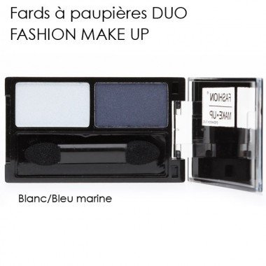 Fashion Make Up - Fard À Paupières Duo 09 - Couleur : Bleu Marine Et Blanc