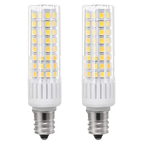 ZOZO Ultima E12 LED Lampade a risparmio energetico 7.5 W lampadina ad alta luminosità equivalente a 85 W lampada alogena 90 V-265 V Bianco caldo 3000 K (Confezione da 2)
