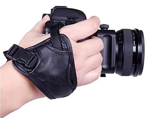 Kamera Handschlaufe Padded Wrist Doppelgriff PU Grip für SLR / DSLR Kameras