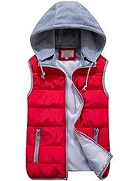 purchase cheap 0303c 2590f Amazon.it: Gilet smanicato - Rosso / Donna: Abbigliamento