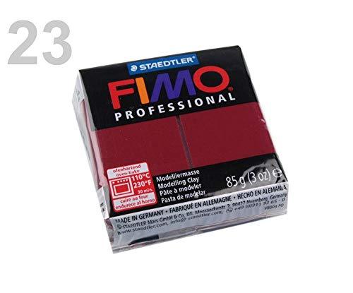 1pc 23 de color Rojo Oscuro FIMO Professional 85g