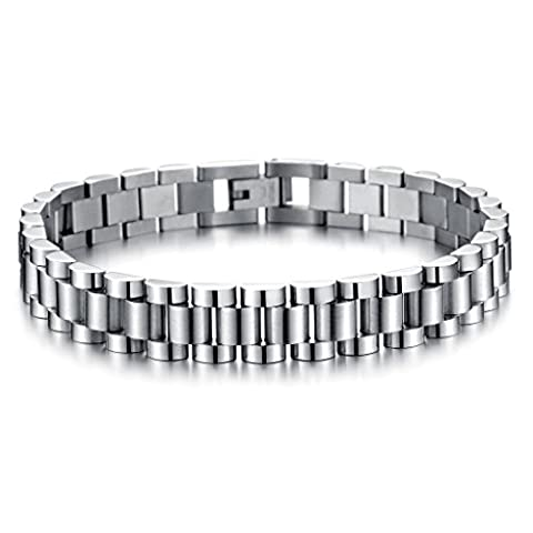 Jiayiqi Mens Personalized Watch Chain Stainless Steel Bracelet