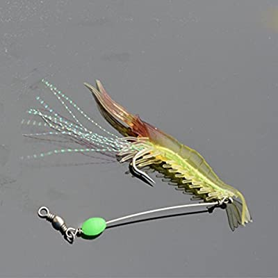 HuntGold 2X Fishpond Fishing Lure Hook Bait Soft Silicone Artificial Prawn Shrimp from HuntGold
