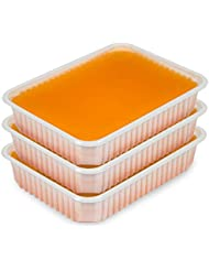 Paraffin Wachs Schalen 3 x 400g Orange