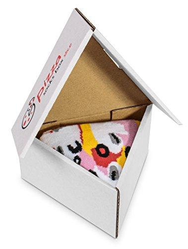 Pizza Socks Box 1 par Caprichosa Unos calcetines únicos, extraordinariamente originales, fabricados en la UE, ideales como regalo! Talla: 36 37 38 39 40 Sorprende a tus amigos Algodón