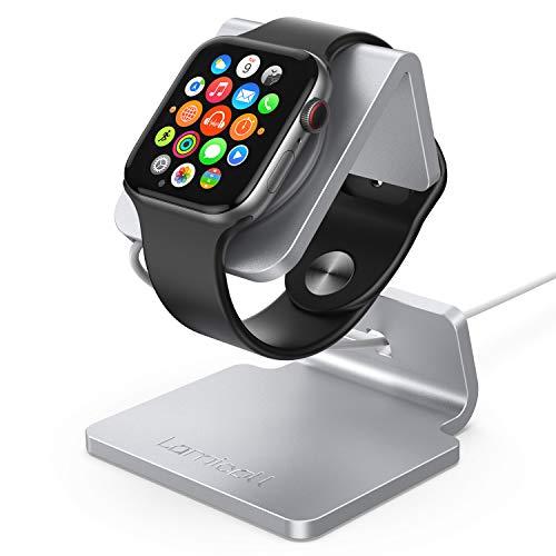 Lamicall Ladestation für Apple Watch, Charging Dock Station : Halterung Ständer kompatibel mit Apple Watch Series 5/4 / 3/2 / 1 - Silver