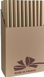 Les Couleurs Bulletinde l'Emballage - 0,70 x 3 m de Papier cadeau Kraft Papier nervuré marron (rouleau de 50)