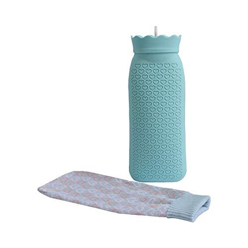 Silica Gel Nette Dicke Handtasche Heißwasserinjektion Heizung Erwärmung Explosionsgeschützte Handtasche Sichere Hände Körperkälte Relief (Blau) JBP-X -
