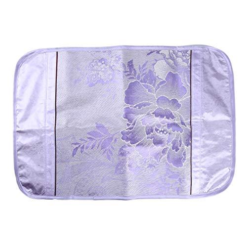 Yeucan Printed Envelope Kissenbezug Ice Silk Sommer Kissenbezüge Schlafzimmerzubehör Supplies, Flower Shadow, buntes Holz, lila -