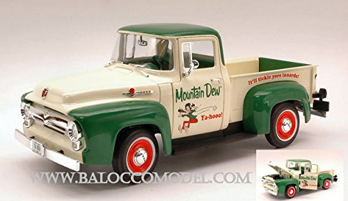 auto-world-aw211-ford-f-100-1956-mountain-dew-118-modellino-die-cast-model