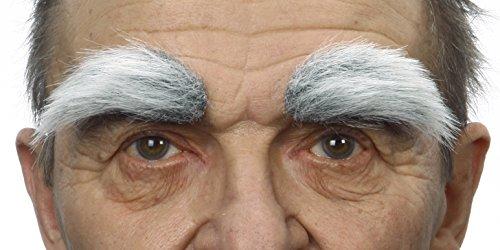Graue fälschen, selbstklebend Augenbrauen mit weiss (Behaarte Mann Kostüm)