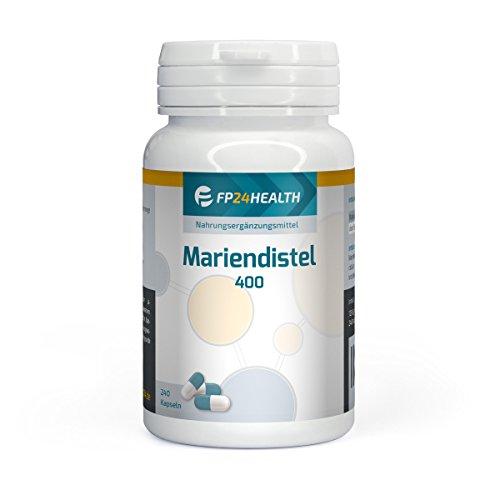 FP24 Health Mariendistel 400 mit 80 % Silymarin - 400mg pro Kapsel - 240 Kapseln - Hochdosiert - Top Qualität - Made in Germany