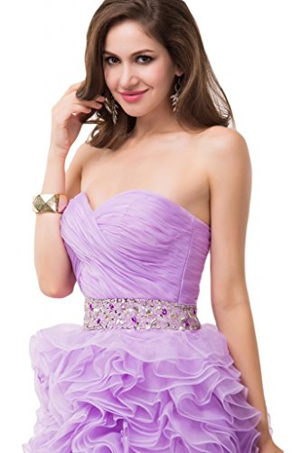 Sunvary Sexy High Low Prom abiti Pageant con motivo: Ruffle-Gowns Blue
