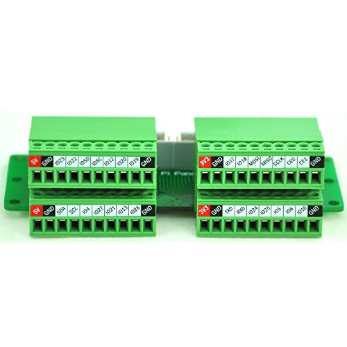 Electronics-Salon Pi Panel Mount Pluggable Terminal Block Breakout Modul, für Raspberry Pi -
