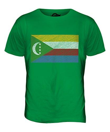 CandyMix Komoren Kritzelte Flagge Herren T Shirt Grün