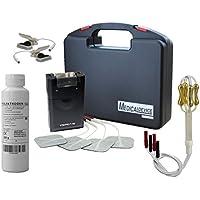 Electroestimulador TENS más, electrodos sonda vaginal oro, pinzas electroestimuladoras y gel de contacto