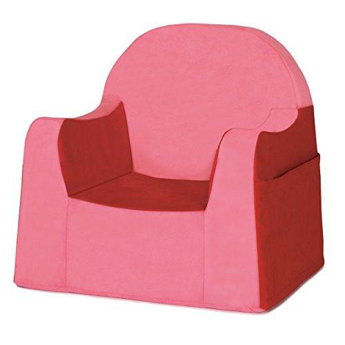 P'kolino Little Reader sillón liviano y cómodo para el pequeño niño lector sillita para bebes con forro de microfibra resistente color rojo