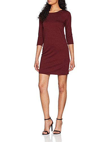 ONLY NOS Damen Kleid Onlbrilliant 3/4 Dress Jrs Noos, Rot (Chocolate Truffle), 42 (Herstellergröße: XL)