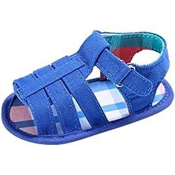 Tefamore Sandalias Zapatos Bebé Niños Niñas De Suela blanda Cuna Recién Nacido Verano (11, Azul)