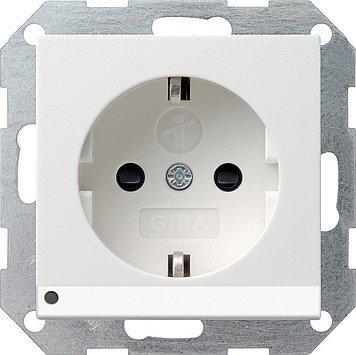 Gira 117003 Schuko-Steckdose reinweiss LED-Beleuchtung System55 m.Kinderschutz - Gas-wasser-heizung-teile