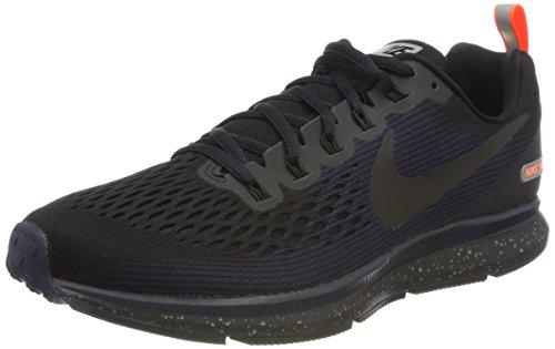 Nike Herren Air Zoom Pegasus 34 Shield Laufschuhe, Schwarz (Black/Black-Black-Obsidian-Hyper Rouge Crimson), 44.5 EU