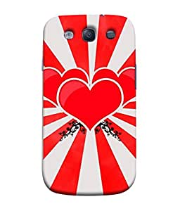 99Sublimation Designer Back Case Cover For Samsung Galaxy S3 I9300 :: Samsung I9305 Galaxy S Iii :: Samsung Galaxy S Iii Lte Three Heart Shape Design Design