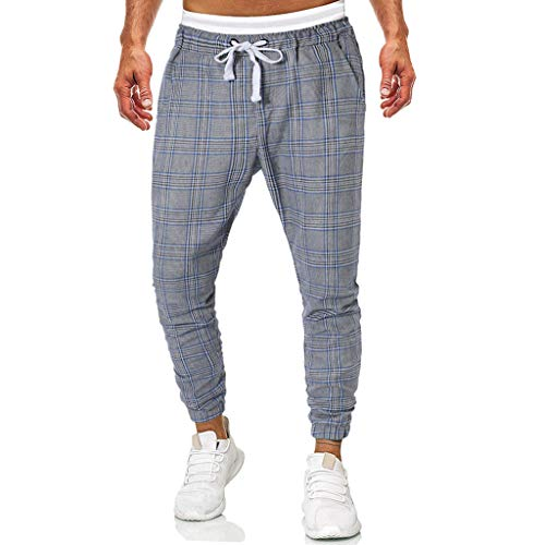 Dwevkeful Plaid Hosen Pants Trousers Sporthosen Trainingshose Freizeithose Reine Farbe Tunnelzug Sommer Slim Fit Freizeit Mit Bequemen Lose Outdoor