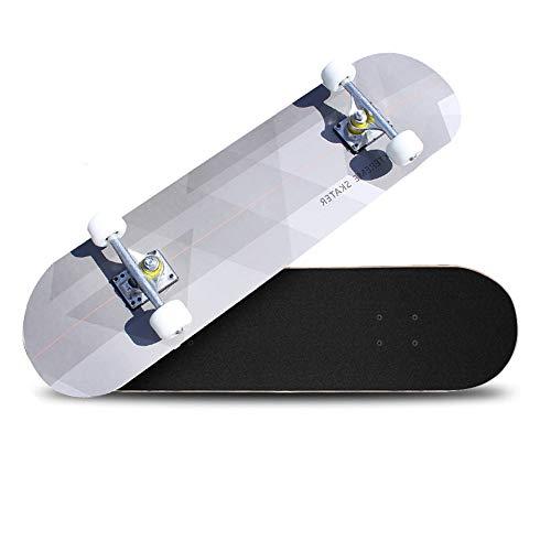 Cruiser Skateboard Retro Komplettboard Cruiser-board Mit Led Leuchtrollen Für Erwachsene Kinder Jungen Mädchen Für Anfänger Und Profis 7-lagigem Ahornholz Skateboard