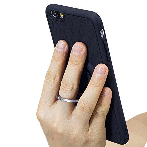 Custodia iPhone 6, Cover iPhone 6S Silicone Antiscivolo, SainCat Custodia in Ultra Slim Silicone Cover per iPhone 6/6S, Protettiva Antiurto Custodia Morbido Silicone Case Ultra Sottile Morbida Gel Ult Grigio