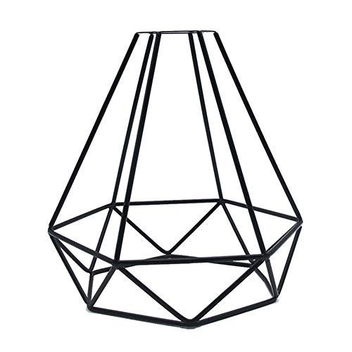 BSOL Geometrischer Metall-Lampenschirm, Industrie-Retro-Metall-Vogelkäfig, Edison-Lampenschirm, Vintage-Decke, kreative DIY Beleuchtung, Metall Vogelkäfig-Lampenschirm für Kronleuchter Wandlampe